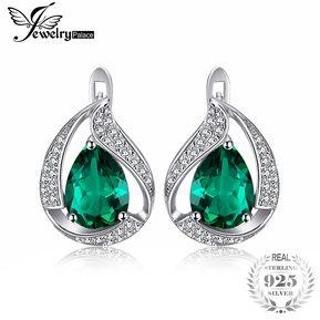 58b7b39410c0 Pendientes Jewelrypalace Creado Nano Ruso Esmeralda 925 Plata Esterlina