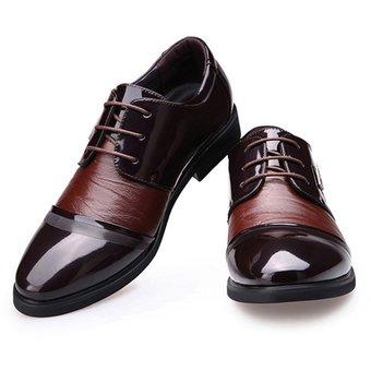 compra zapatos de ecocuero para hombre dedo del pie puntiagudo de