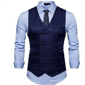 c4e7dd153 Hombre Chaleco Cuello V Casual Fashion-Cool-Navy