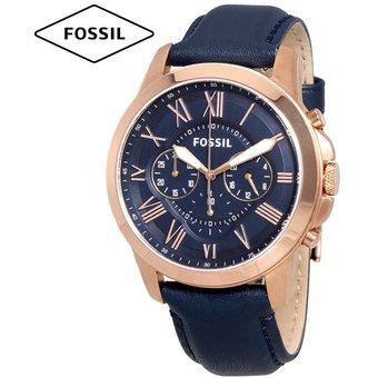 f96a1e116ce1 Compra Reloj Fossil Grant FS4835 Cronometro Correa De Cuero - Azul ...