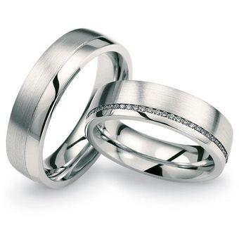 780fe1db5758 Argollas De Matrimonio Modelo A15 De Oro Blanco De 14Kt Con 20 Diamantes  Naturales De .