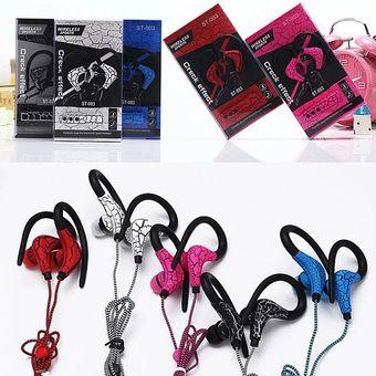 Audífonos Bluetooth Deportivos Inalámbricos, Auriculares De La Grieta ST-003 Auricular Sin Hilos Del Deporte Del Auricular De Audifonos Bluetooth Manos Libres  (color De Rosa)