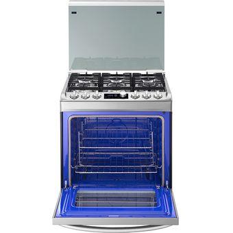 Agotado (Caja Maltratada)LG   Cocina A Gas Natural 6 Hornillas RSG316T    Acero