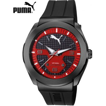 reloj grande hombre puma rojo