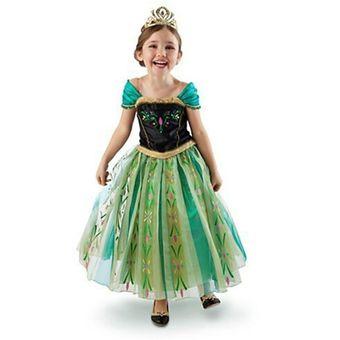 Vestido Con Diseño De Princesa Anna Frozen Para Niña Multicolor
