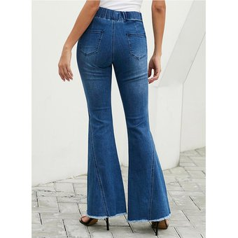 Pantalones Acampanados Para Mujer Con Jeans De Mezclilla Con S Linio Colombia Ge063fa0r3ndflco