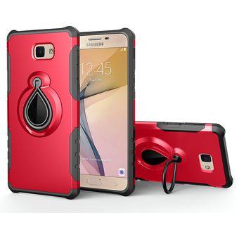 06a8b74ed06 Funda de Soporte Grip Anillo para Samsung Galaxy J7 2017/J7 Prime-Rojo