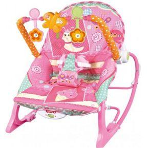 048e238cd ibaby - Silla mecedora vibradora musical crece conmigo rosado