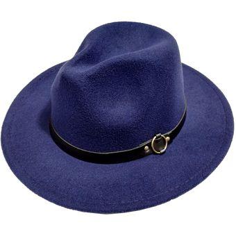 bd38bafd72458 Compra Sombrero Maluma Panama Fieltro Sol Viaje Fashion Unisex AZUL ...