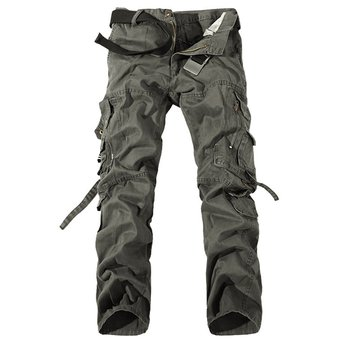 Pantalones Para Hombre Moda Pantalones Militares Solidos Para Hombre Pantalones Para Hombre Mono Holgado Pantalones Estilo Militar Informal Para Hombre Wan Khaki Linio Peru Ge582sp1hgberlpe