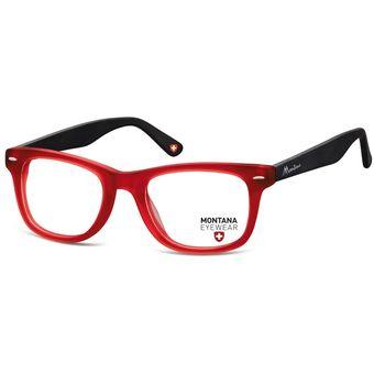 6d431eda0e11c Monturas Montana En Acetato Oftálmicas Para Lentes Opticos Formulados - Gafas  Marco MA83H- Rojo