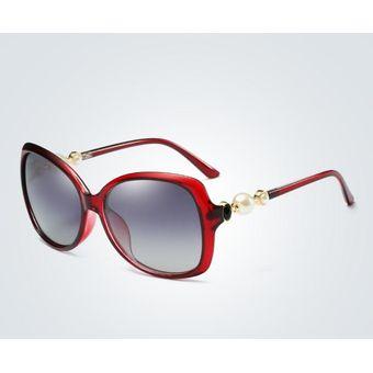 1e19d1349d Compra Nuevas Damas Polarizaron Las Gafas De Sol Clásicas-rojo ...
