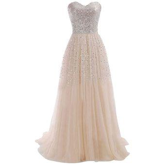 6d38d550b8 Vestido De Noche Largo Fiesta Elegante para Mujer - Albaricoque