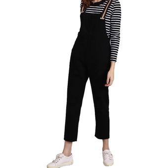 822a6f7fa7de Jeans De Monos De Mezclilla Ripped Negros Para Mujer Más El Tamaño De
