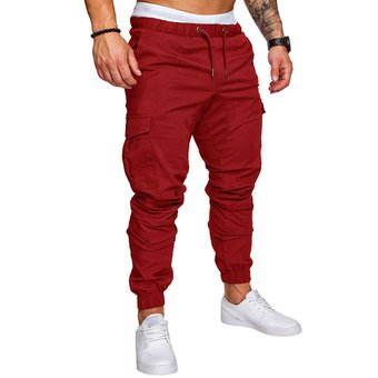Compra casual Multi-bolsillo Harén Pantalones Joggers para hombres ... 4899a8535fd2