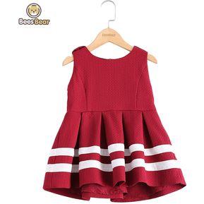 f14d8a668 Vestido plisado rayado con estilo de las lanas para (rojo)