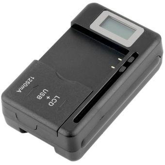bf19f973410 Agotado ER Batería Universal Cargador LCD Indicador Pantalla Para Teléfonos  Celulares Puerto USB.