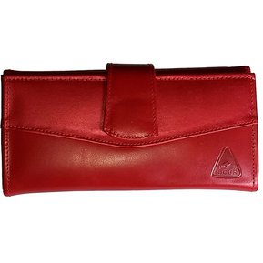 cbb42c35e Billetera Cartera Monedero Cuero Genuino Dama Mujer Rojo