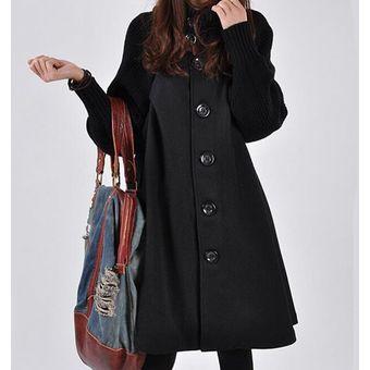 venta más barata moderno y elegante en moda Venta de liquidación 2019 Abrigo de Lana Mujer - Negro