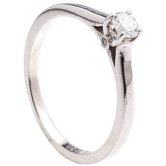 cb667db7e6f2b Anillo De Compromiso Solitario Diamond Desing Diamante Natural 20 Puntos  Con Montadura De Oro Blanco De
