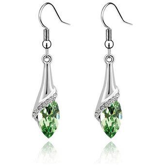 212c48270bf8 Agotado Aretes De Del Regalo De Boda De Las Mujeres De Señora Crystal-Verde