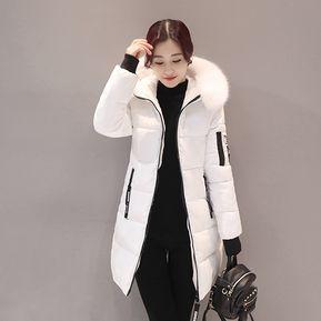 Moda Mujer Larga De Algodón Abajo Parka Con Capucha Collar Fur Coat Chaqueta  De Invierno - 6241ab8b9db1