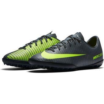 8183e48e9 Agotado Tenis Fútbol Niño Nike Jr Mercurial Vapor XI CR7 TF -Negro Y  Amarillo