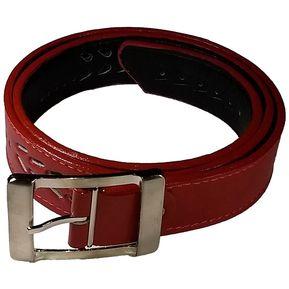 Correa Cinturón Dama Mujer Cuero 100% Genuino Rojo 266c49bc8d4