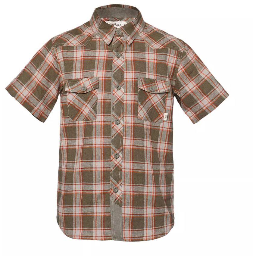 Camisa Niño Mountain Towns Short Sleeve Shirt Lippi Verde / Crema