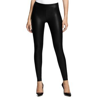 mayor descuento original mejor calificado mejor calidad Leggins Pantalon Licra Imitacion Cuero - Negro