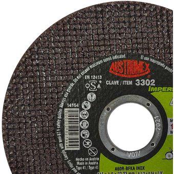 Disco Austromex De Corte 3302 Para Metal De 4 1 2 Pul