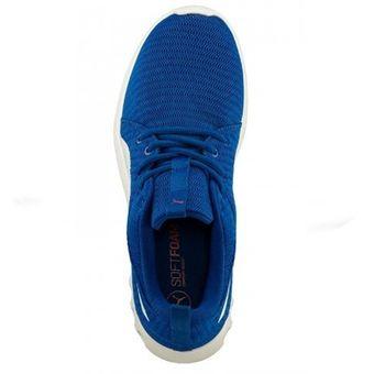 puma hombre azul
