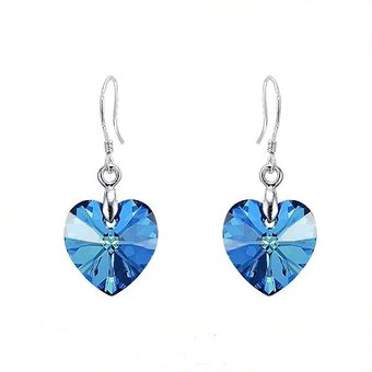 fb8799658462f Compra Aros Vanité Corazón Hechos con Cristales de Swarovski online ...