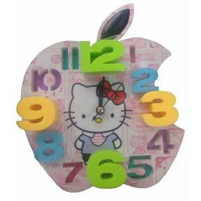 3cc52438a Hermoso Despertador Reloj De Hello Kitty Manzana EN 3D Con Fuerte Alarma