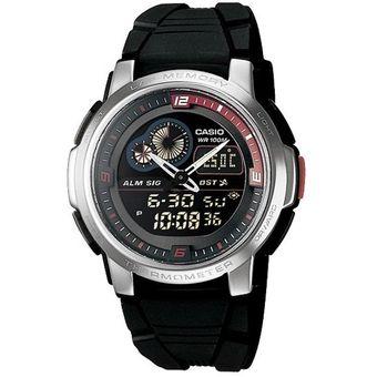 58b6e437a9d9 Compra Reloj Casio Aqf102 Termometro Luz Cronometro Sumergible-Negro ...