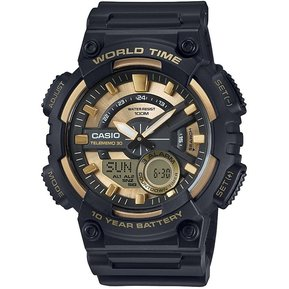 7c7c51449b7d Reloj Casio AEQ-110BW-9A Para Caballero Negro Dorado Deportivo