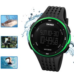6654b72e8117 Agotado Reloj Analógico Digital Para Hombre Skmei A Prueba De Agua-Negro