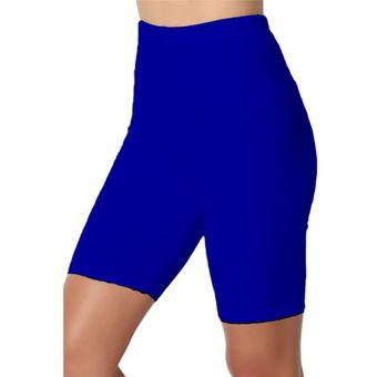 Pantalones Cortos Delgados De Fitness Para Mujer Casual Pantalones Delgados De Verano De Cintura Alta Hasta La Rodilla Pantalones Cortos Negros Ajustados Streetwear Blue A Linio Peru Un055fa02hfrflpe