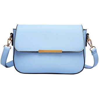 Mujeres PU Cuero Mini Cute Casual Peque?o Hombro Cuadrado y Messenger Bolsas con Sweet Sweet Candy Estilo Azul