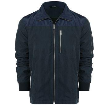 Chaqueta Abrigo Ropa Stand Collar Patchwork relampaga Casual Yucheer para  Hombres- Azul marino db0e9bb7576