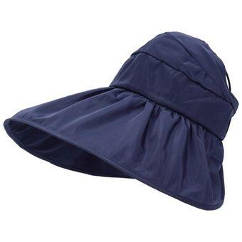 Las mujeres Verano Protector Solar sombrero clásico diseño anti-UV Playa  sólido plegable Blanco c3776fc4cd6