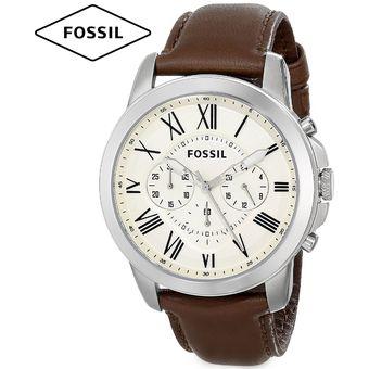 Compra Reloj Fossil Grant FS4735 Cronometro Correa De Cuero - Marrón ... d121717213d0