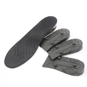 a3f398e1b52 Shoe Insoles Height Increase Boot Pad PU 4 Layers Shoe Lift for Women Men  Black