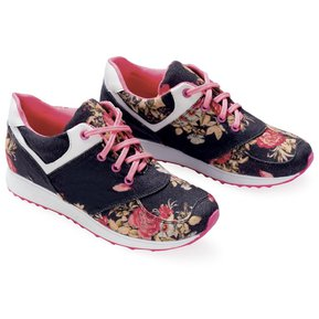 7d4c2bb028c Tenis Trendy Adulto Femenino Marketing Personal 83644 Estampado Flores