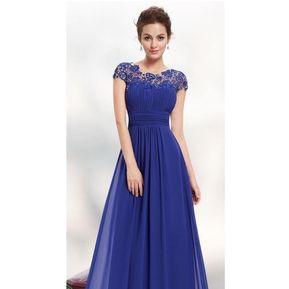 2a39f6b7e Vestidos De Noche Genérico Mujer-Azul