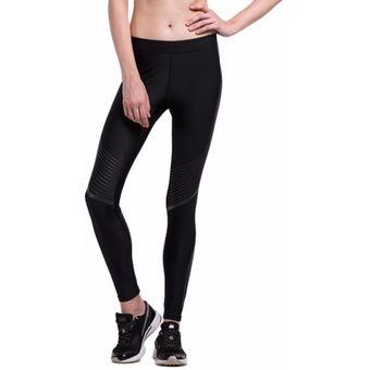 Yoga Pantalones Cintura alta Deportivos Fitness yoga Ropa de compresión  para Mujer Leggings - Negro 86c9c7ef6484