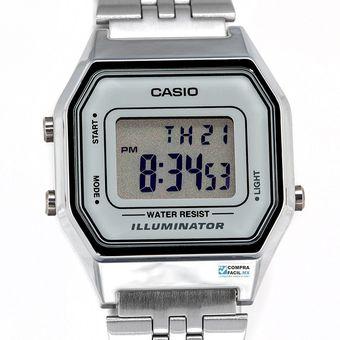 bdaa46ec68d7 Compra Reloj Dama Casio Vintage LA680 Plata Cara Gris online