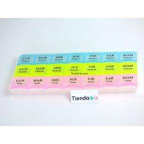 d60ff661a633 Pastillero organizador plastico de pastillas Mañana tarde y noche