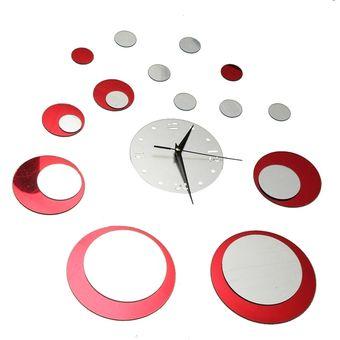 Círculo Pared Decoración De Etiquetas Reloj Moderno Espejo Relojes Diy 3d Hogar Lujo xedCrBo