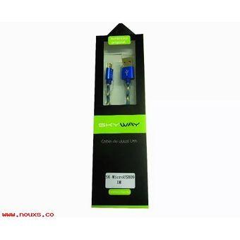 Cable Lightning Skyway SK-Light a USB Mallado Bicolor